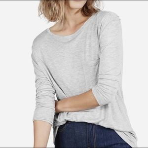 Everlane gray long sleeve shirt